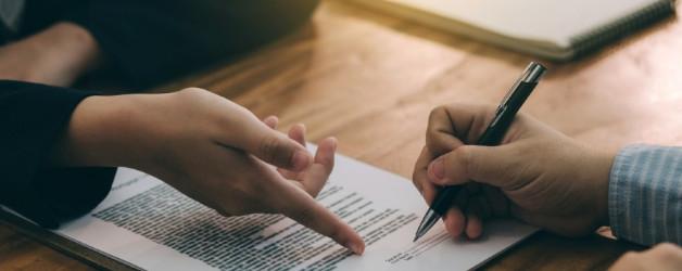 signing a marital settlement agreement
