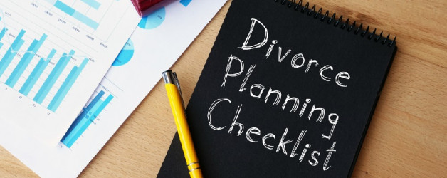 A divorce planning checklist notebook contains virginia residency requirements for divorce